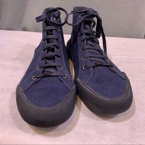 Lanvin navy canvas sneakers
